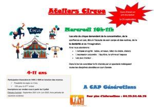 Nouvelle saison d'ateliers Cirque