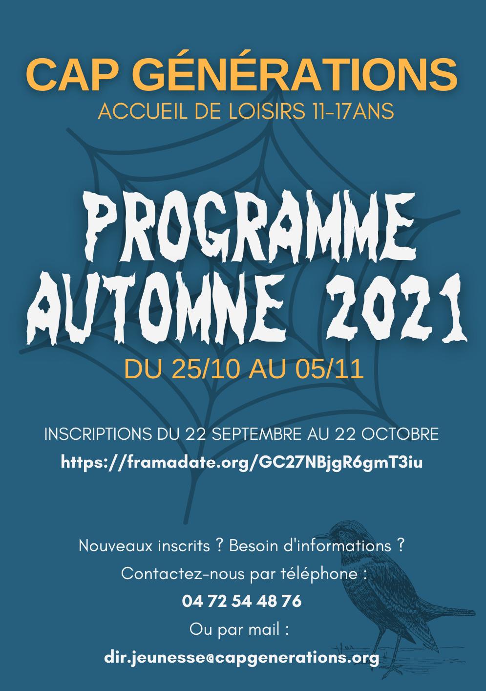 Programme Automne 2021